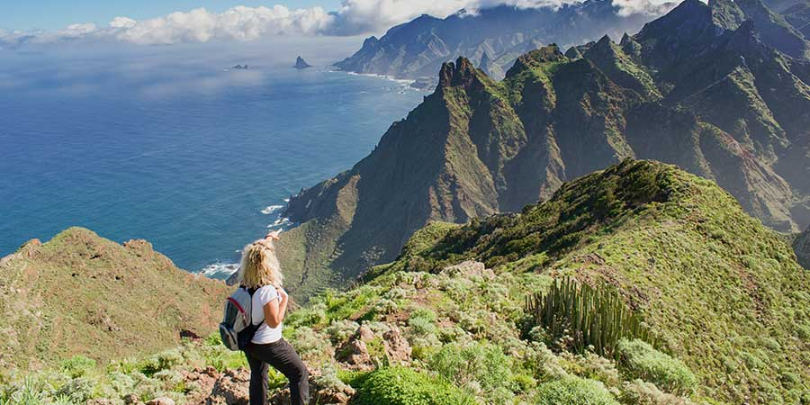 Woman walking in Tenerife canariaways.com with Canariaways