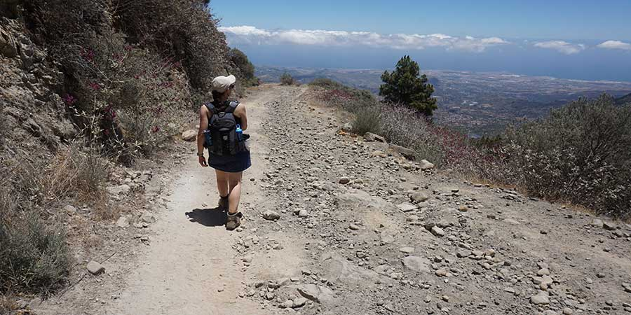 Woman Walking in Gran Canaria with Canariaways